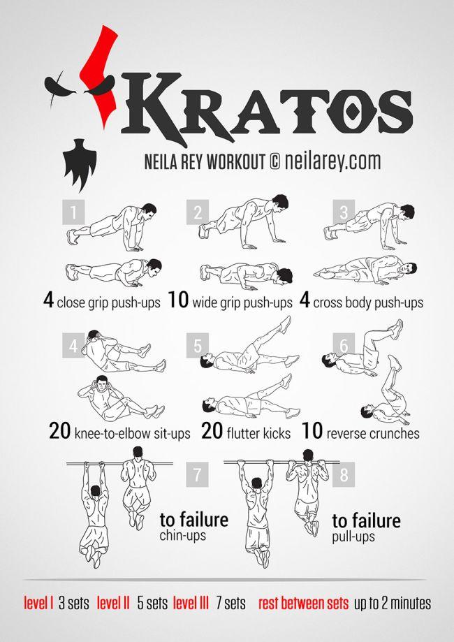 01113 Vežbaj kao Kratos, bog rata