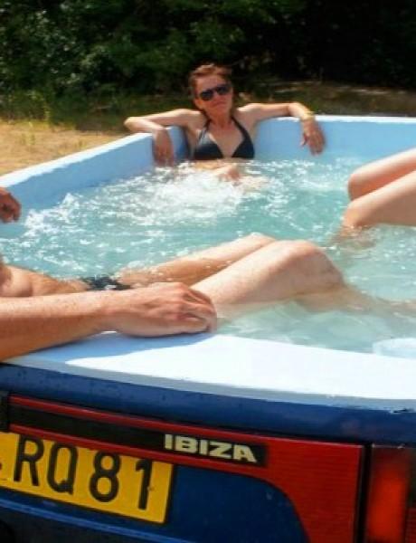 Vrlo izvodljivo: Napravite bazen u svom automobilu!