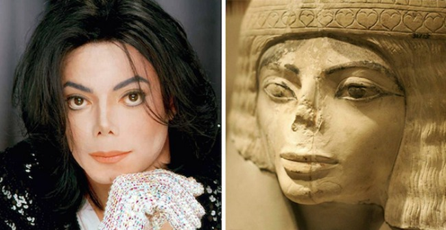 Michael Jackson and this Egyptian statue1 Najbizarnije sličnosti koje ste videli do sad