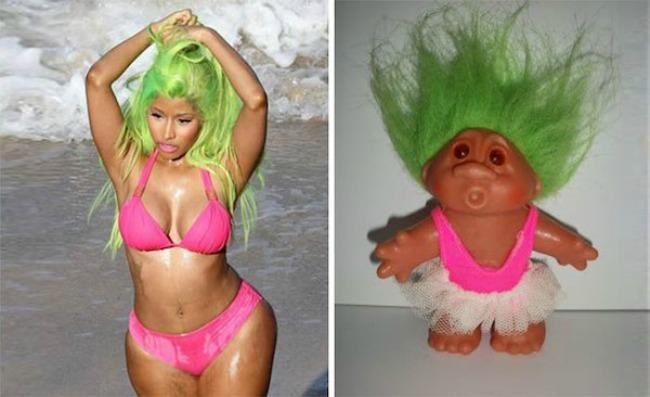 Nicki Minaj and this troll1 Najbizarnije sličnosti koje ste videli do sad