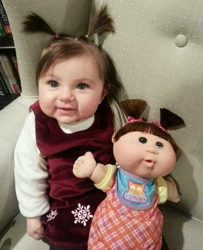 This girl and this doll1 Najbizarnije sličnosti koje ste videli do sad