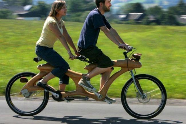 neobican drveni bicikl za veselu voznju u dvoje Zdrav život: Vozite bicikl
