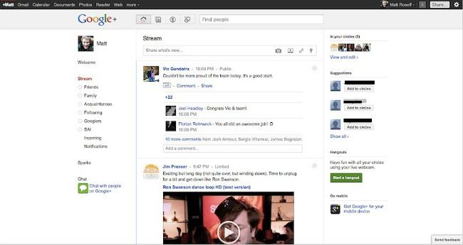 google google plus stream1 Načini da dobijete pratioce na Google Plusu
