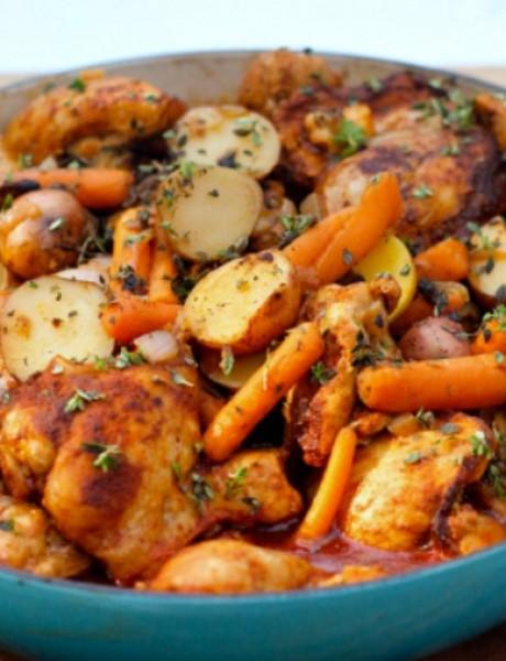 Pečena piletina sa alevom paprikom