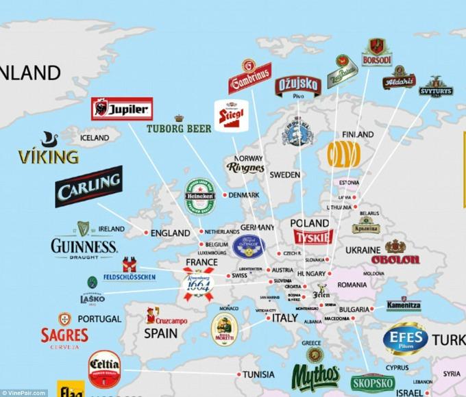 pivo na mapi Pivo na svetskoj mapi