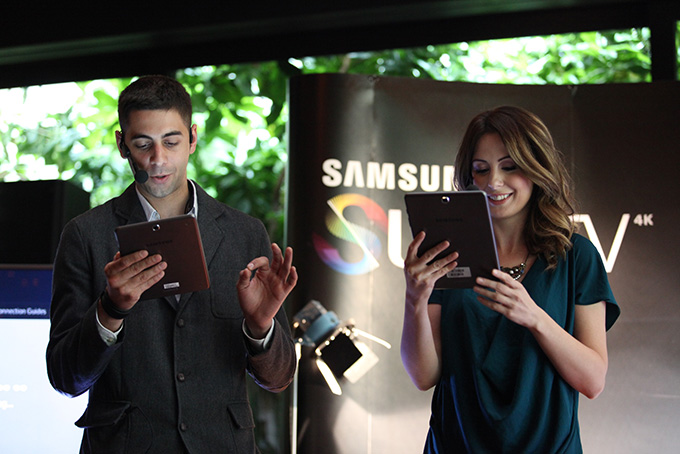 Ivan Mihailovic i Borka Tomovic na predstavljanju Samsung SUHD TV Premijera nove generacije Samsung televizora i zvučnika