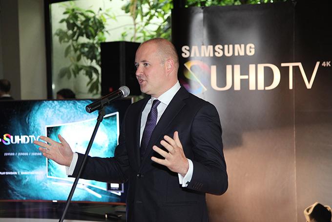 Milan Vujovic direktor marketinga Samsunga za SEAD Premijera nove generacije Samsung televizora i zvučnika