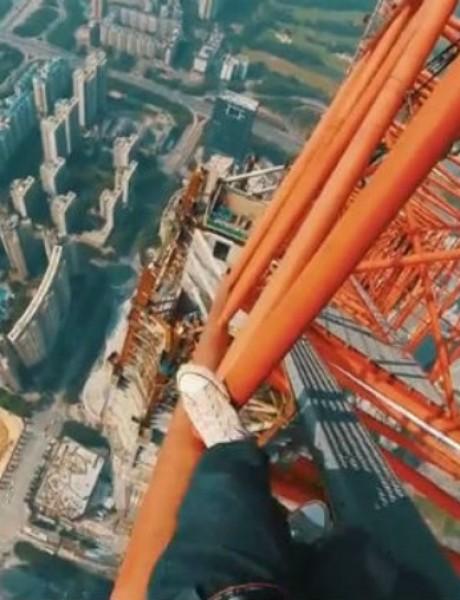 VIDEO: Popeli se na zgradu od 660 metara da bi napravili selfi