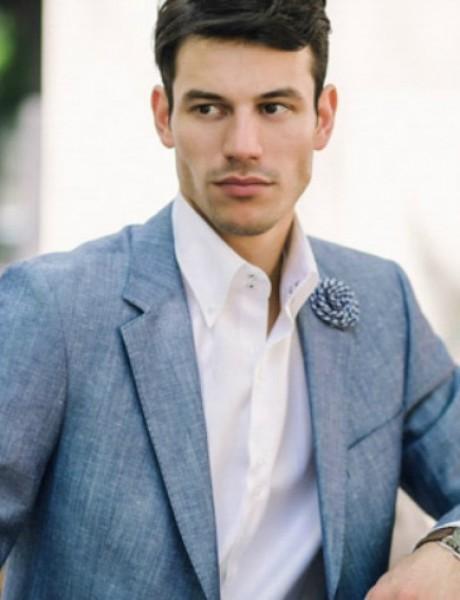 Rancco modni predlog: Plavi laneni sako za letnje dane