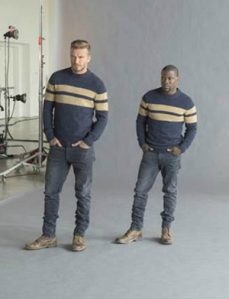 Dejvid Bekam na snimanju za novu H&M kampanju sa Kevinom Hartom