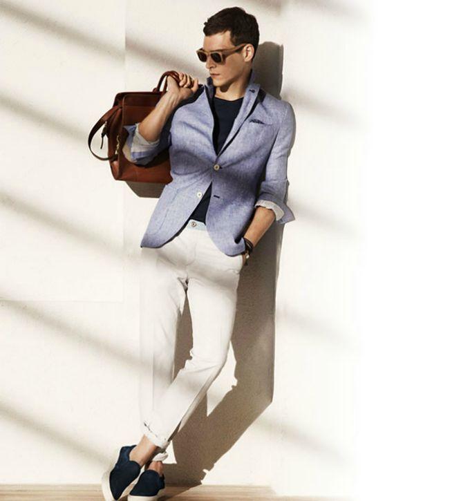 plava i bela wannbe man Pet kombinacija boja za leto