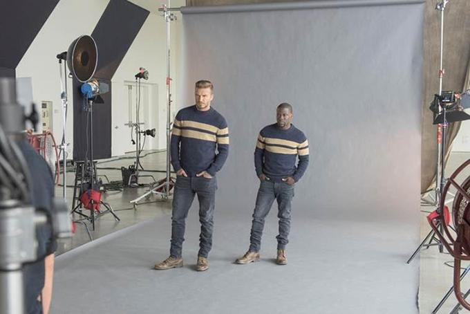 unnamed Dejvid Bekam na snimanju za novu H&M kampanju sa Kevinom Hartom