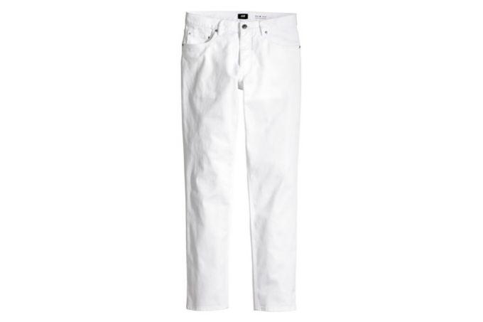 bele pantalone 5 letnjih jednobojnih odevnih komada za svakog muškarca