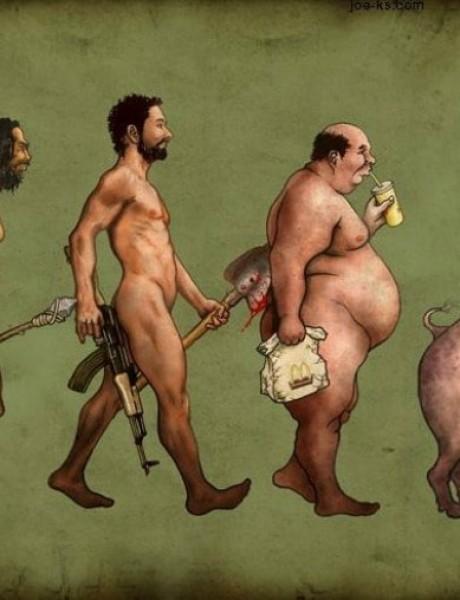 Komične ilustracije o čovekovoj evoluciji koje će vas nasmejati