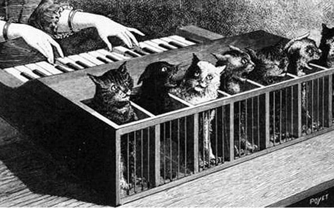 klavir sa mackama Čudesni izumi: Klaviri kakve do sada NISTE videli!