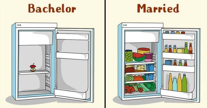 Zanimljive ilustracije koje predstavljaju muškarce pre i tokom braka2 Zanimljive ilustracije koje predstavljaju muškarce pre i tokom braka (GALERIJA)
