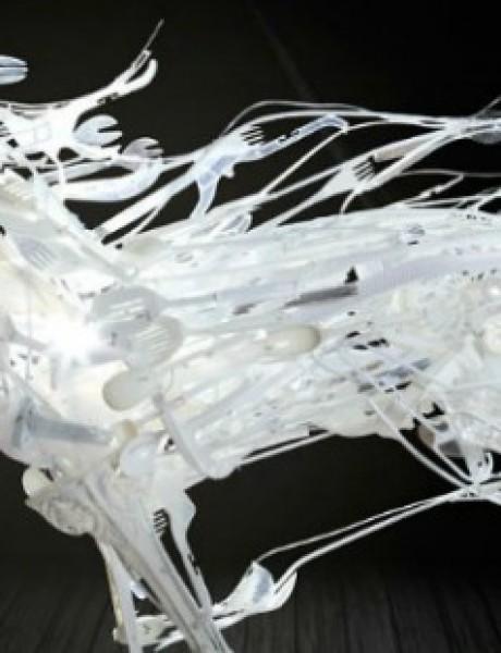 Zapanjujuće skulpture od plastike za reciklažu