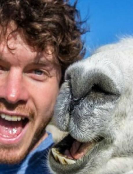 On je kralj selfija sa životinjama (GALERIJA)