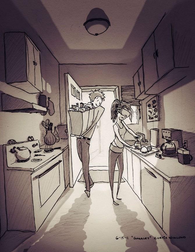 Tople ilustracije o bračnoj intimi 4 Tople ilustracije o bračnoj intimi