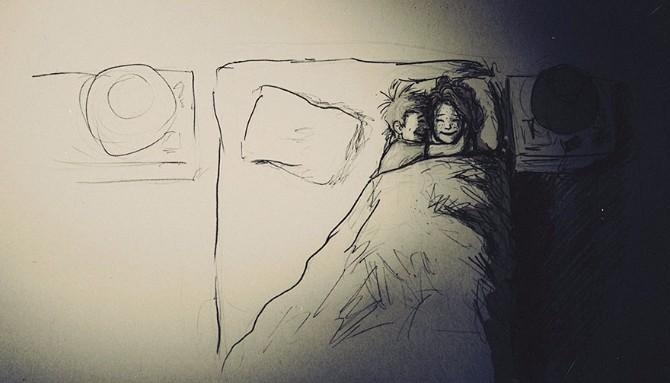 Tople ilustracije o bračnoj intimi Tople ilustracije o bračnoj intimi