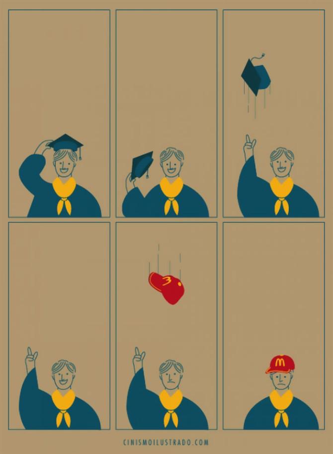 ilustracije 3 Brutalne i iskrene: Ilustracije o životu u modernom svetu