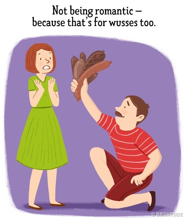 ilustracije 8 Greške koje muškarci stalno ponavljaju a žene izluđuju (ILUSTRACIJE)