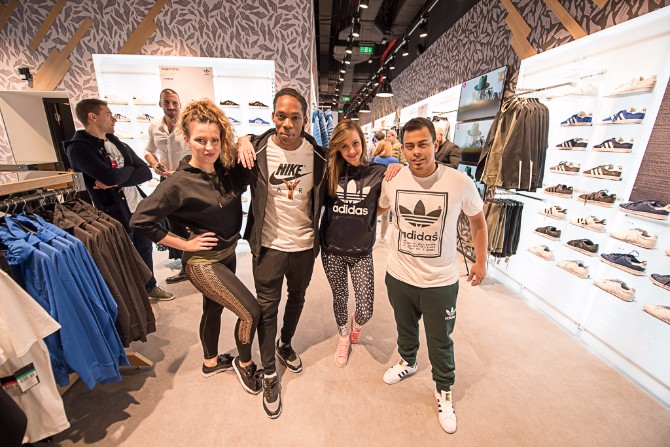 Tito Garmendia sa ekipom plesača The Athletes Foot prodavnica u TC Rajićeva je nova omiljena šoping destinacija za sve muškarce sa stilom