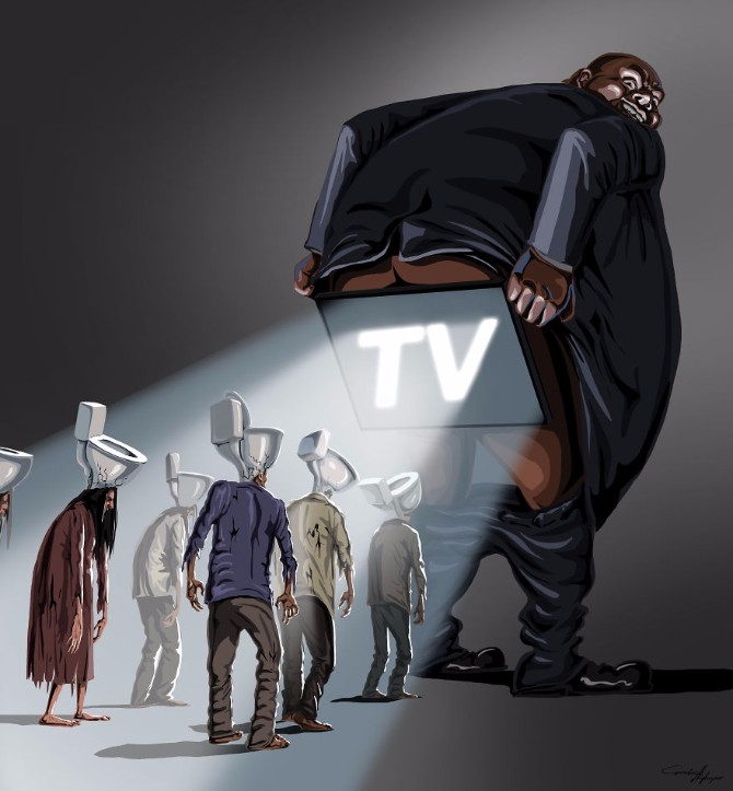 ilustracija2 Fenomen mase i individualnosti kroz satiričnu ilustraciju